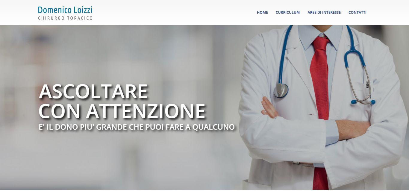 La home page del sito di Domenico Loizzi, chirurgo toracico degli OO.RR. di Foggia