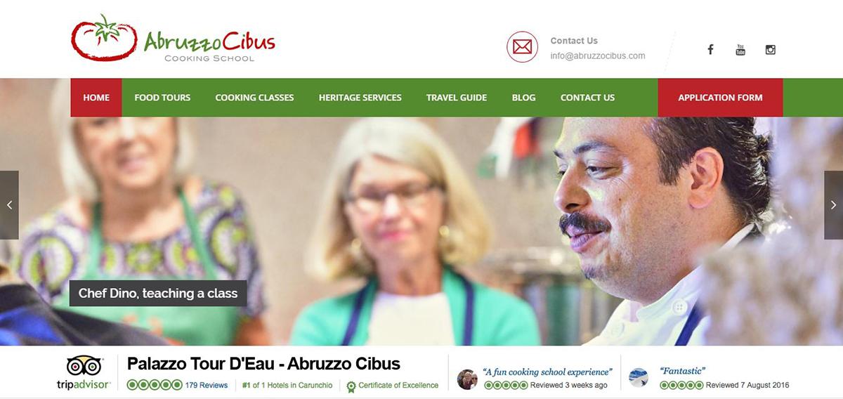La home page di AbruzzoCibus.com