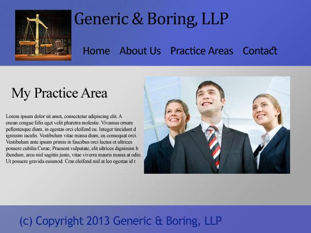 Un esempio di brutto sito per avvocati