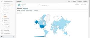 La schermata del rapporto Località