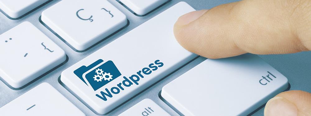 """La foto di una tastiera del computer con un tasto """"WordPress"""""""
