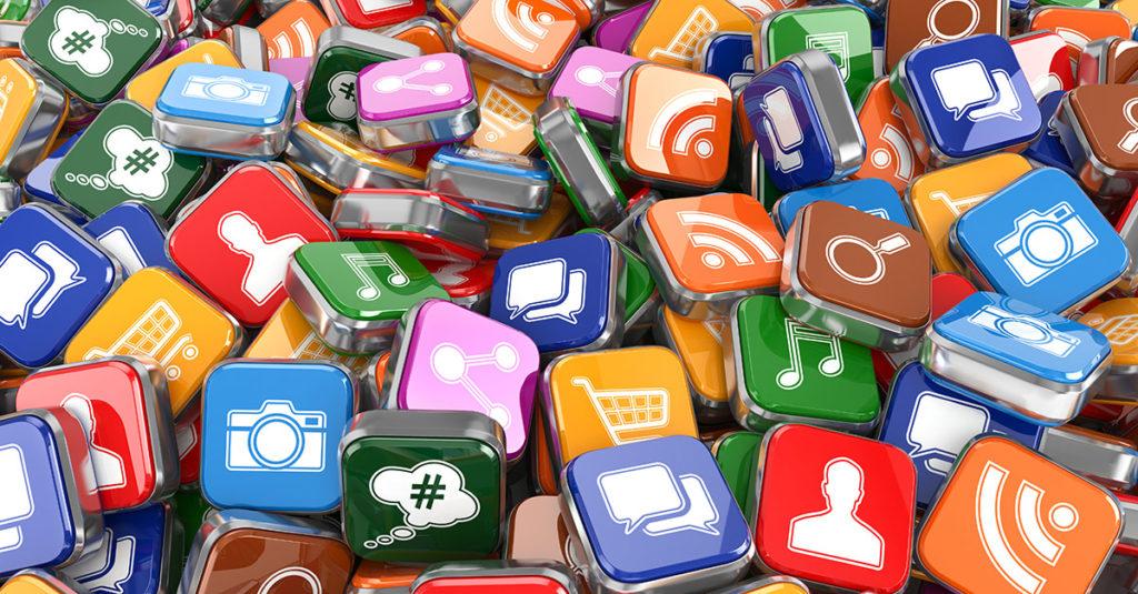I loghi dei principali social media