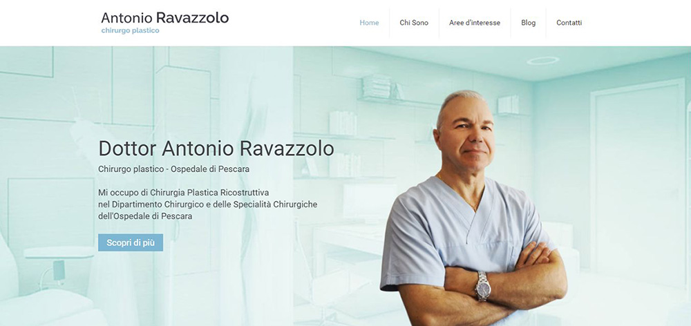La home page del sito Antonioravazzolo.it