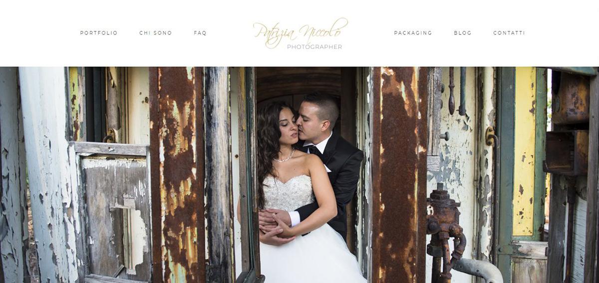La home page del sito Patriziafotografa.it