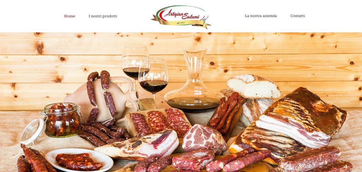 La homepage del sito Artigiansalumi.it