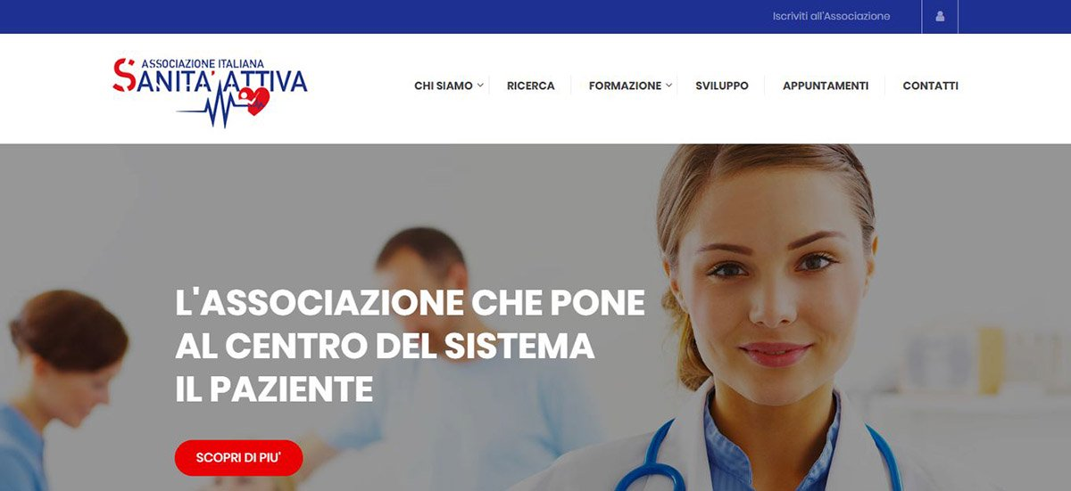 La home page del sito Sanitattiva.it