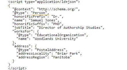 Un esempio di JSON-LD