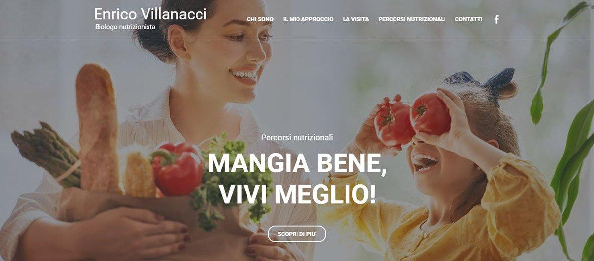 Il sito web del dottor Enrico Villanacci, biologo nutrizionista di Milano