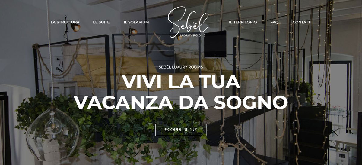 La home page di Sebèl Luxury Rooms
