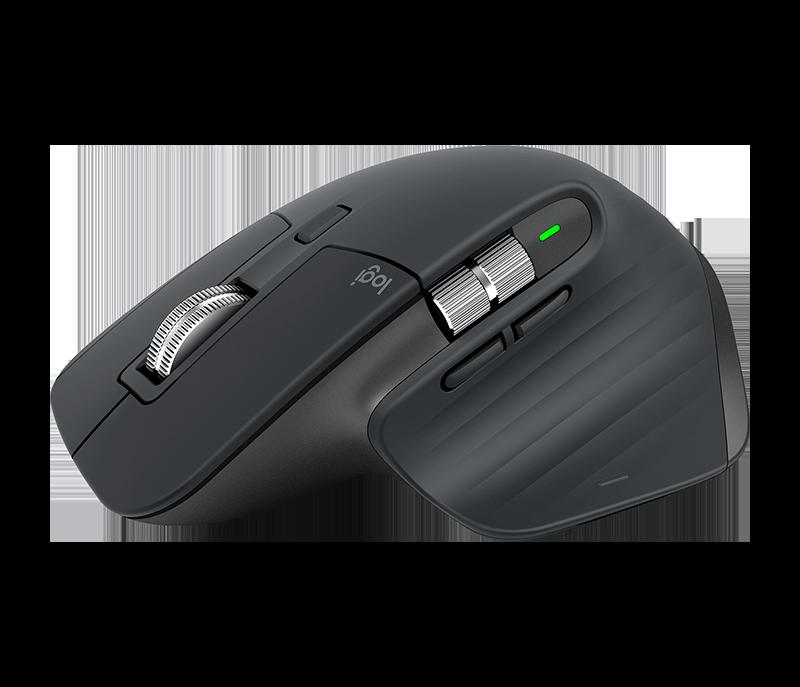 Una vista dettagliata del mouse MX Master 3 di Logitech