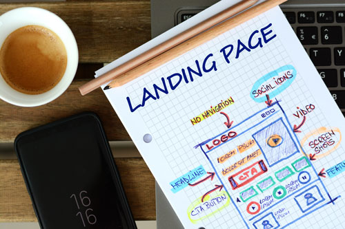 Schema di progettazione di una landing page
