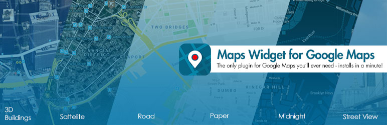 Banner Maps Widget for Google Maps