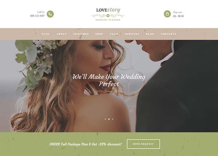Un esempio di sito per wedding planner