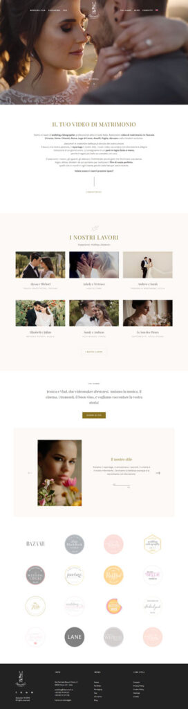 La home page di 2become1, wedding videographer di Vasto, Abruzzo
