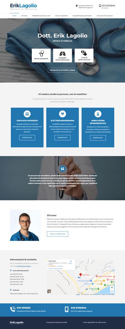 La pagina principale di Eriklagolio.it, medico di base a Savona