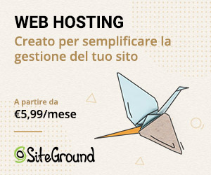 Il logo del web hosting Siteground, perfetto per i siti WordPress