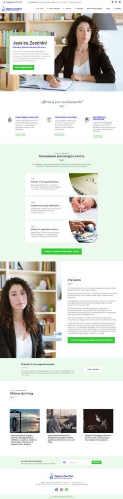 Il sito web di Jessica Zecchini, psicologa a Pescara