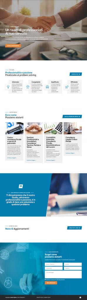La home page di Studiopagliara.net, studio di consulenza fiscale e tributaria a Pescara