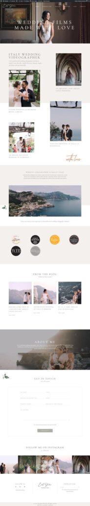 Una pagina del sito Editstudio.it, wedding videographer di matrimonio