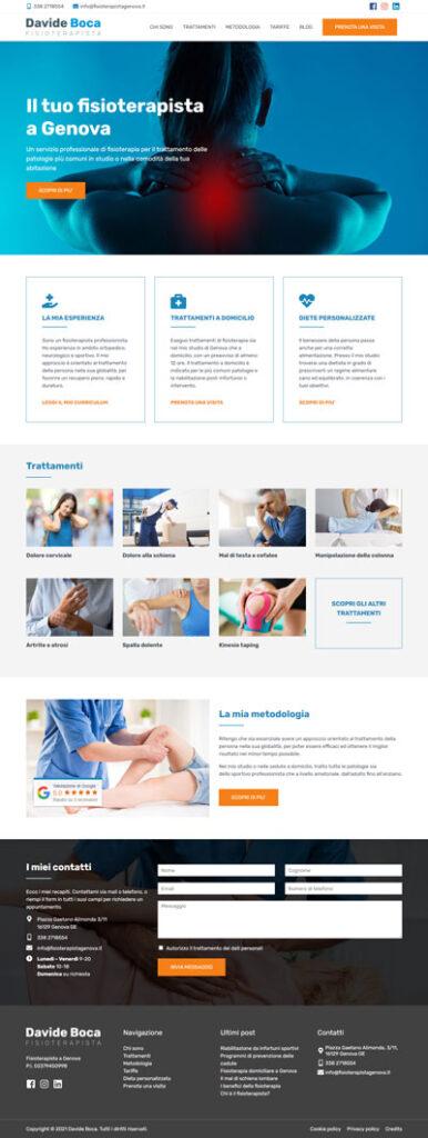 La home page di Fisioterapistagenova.it