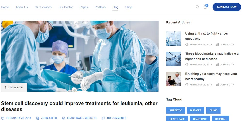Un esempio di blog medico